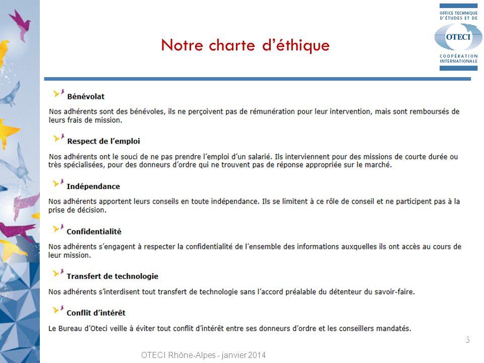 Notre charte déthique OTECI Rhône-Alpes - janvier 2014 5