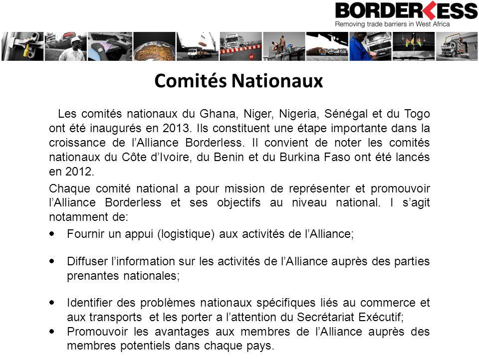 Comités Nationaux Les comités nationaux du Ghana, Niger, Nigeria, Sénégal et du Togo ont été inaugurés en 2013.