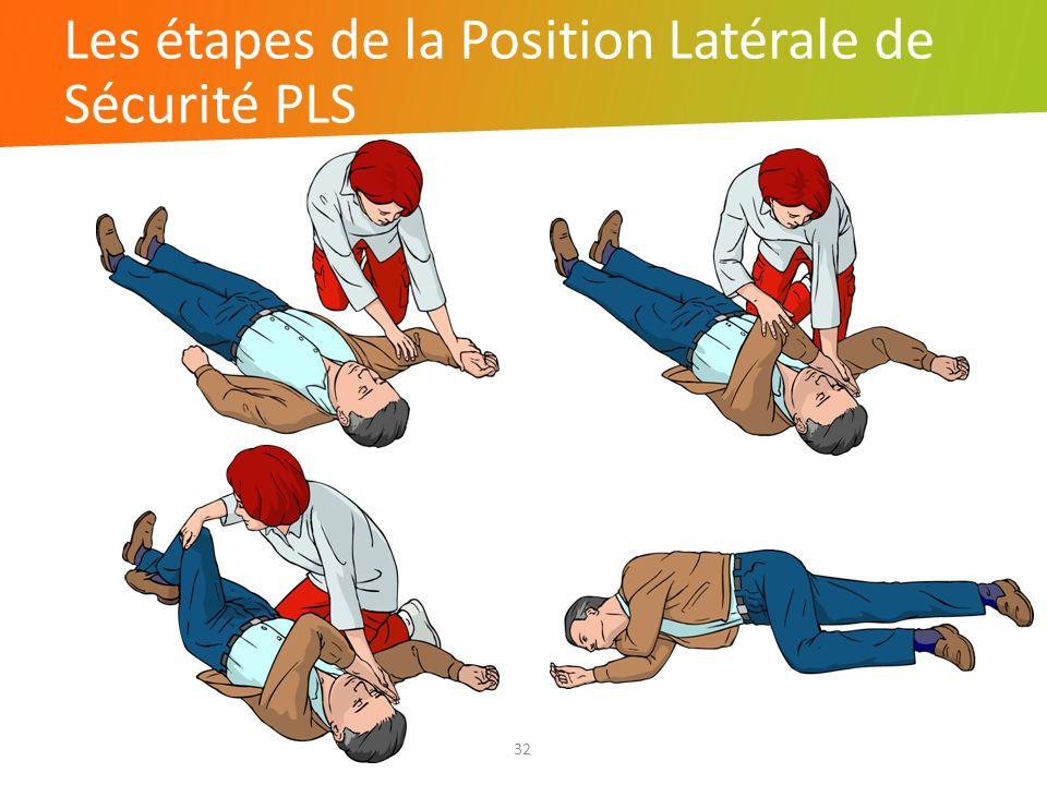 Les étapes de la Position Latérale de Sécurité PLS 32