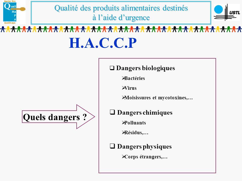 Qualité des produits alimentaires destinés à laide durgence H.A.C.C.P Quels dangers .