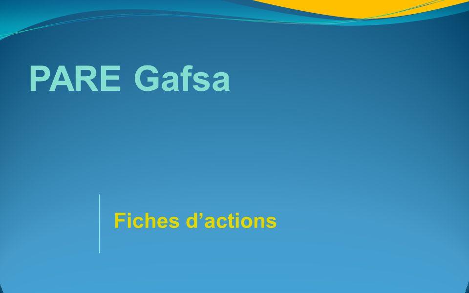 PARE Gafsa Fiches dactions