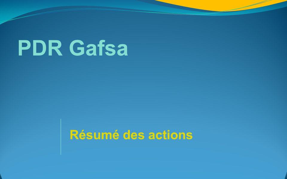 PDR Gafsa Résumé des actions