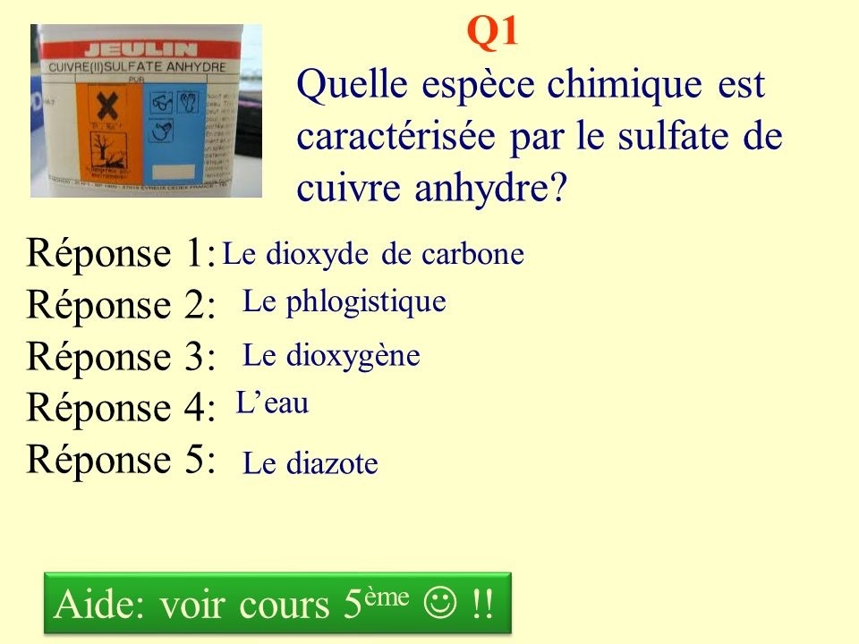QCM Mr Malfoy Troisièmes collège Lamartine Hondschoote Les ions et lacidité Chapitre 7