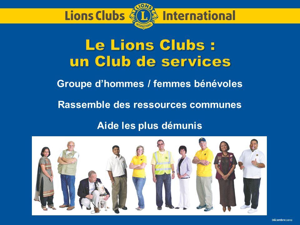 Groupe dhommes / femmes bénévoles Rassemble des ressources communes Aide les plus démunis