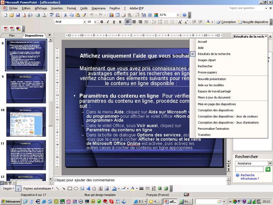 Produits et services tiers pouvant être utilisés avec Office 2003.