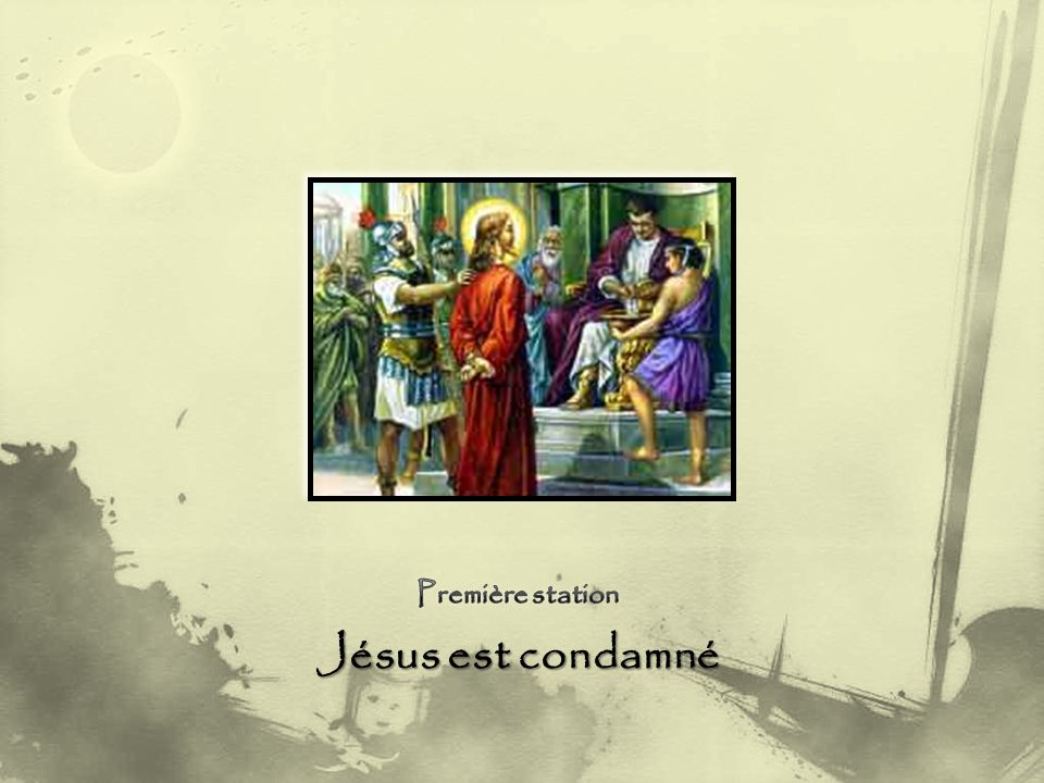 Jésus est condamné