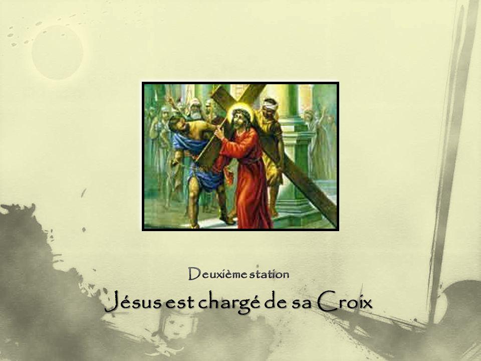 Jésus tombe une deuxième fois.