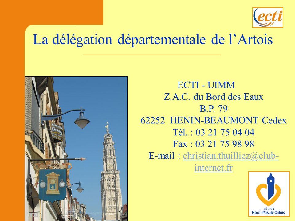 ECTI - UIMM Z.A.C.du Bord des Eaux B.P. 79 62252 HENIN-BEAUMONT Cedex Tél.