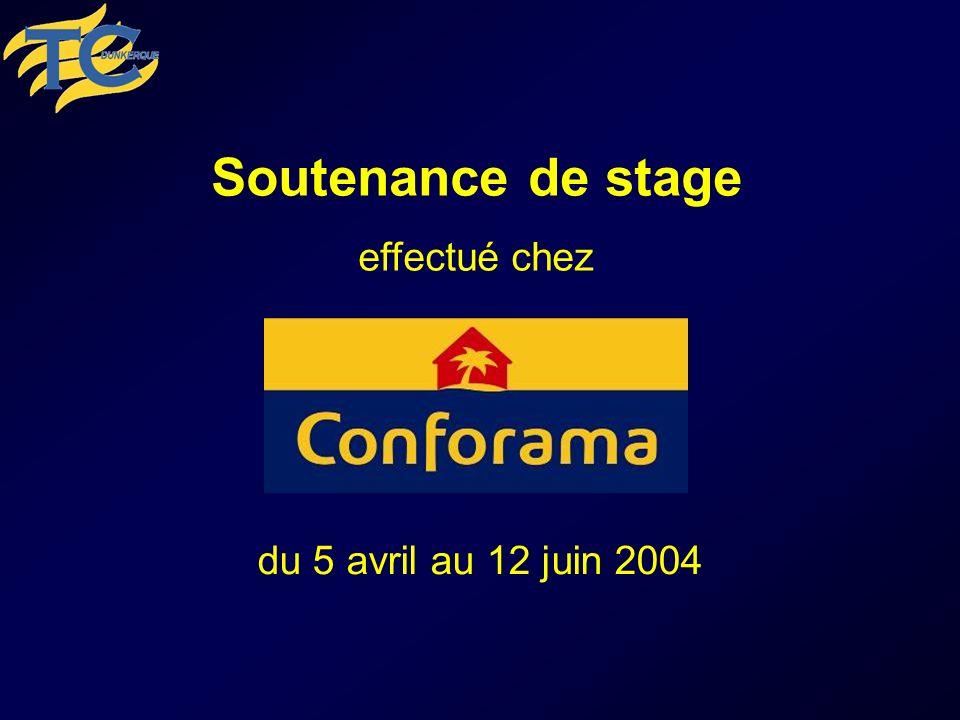 Soutenance de stage effectué chez du 5 avril au 12 juin 2004