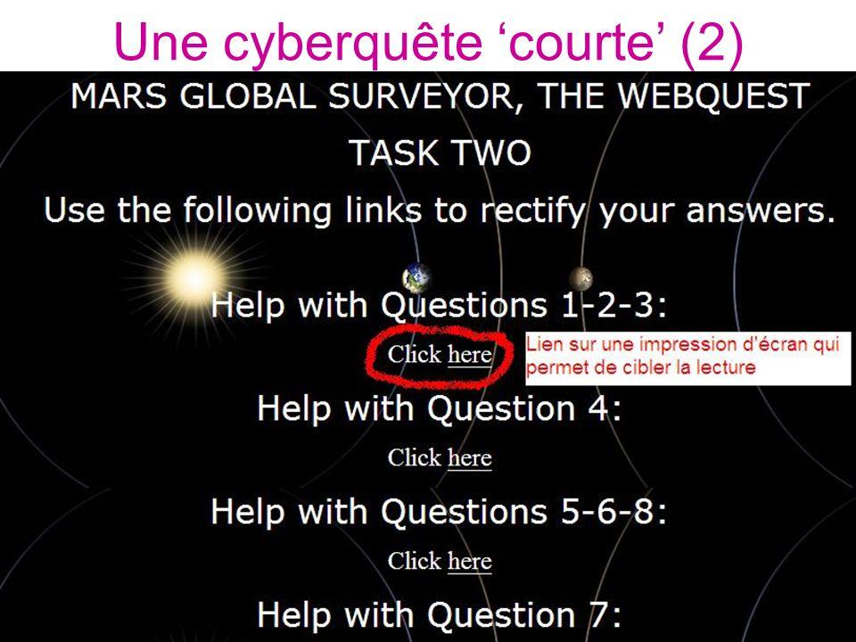Une cyberquête courte (2)