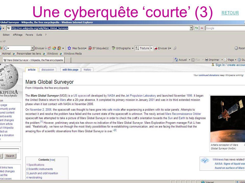 Une cyberquête courte (3) RETOUR