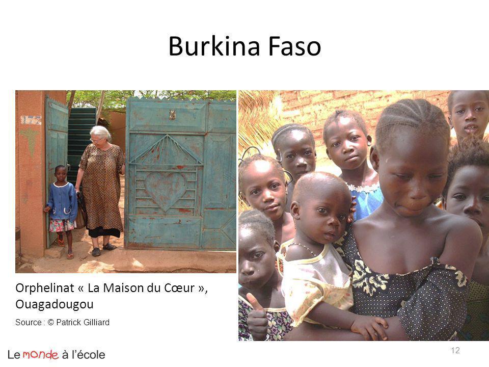 Burkina Faso 12 Orphelinat « La Maison du Cœur », Ouagadougou Source : © Patrick Gilliard