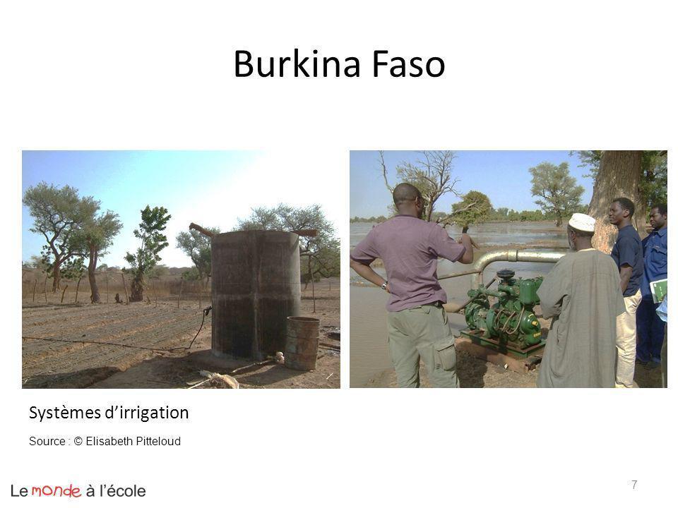 Burkina Faso 7 Systèmes dirrigation Source : © Elisabeth Pitteloud