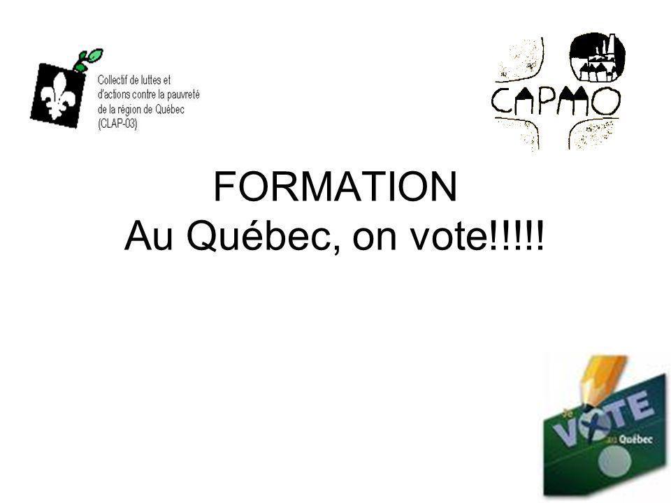 FORMATION Au Québec, on vote!!!!!