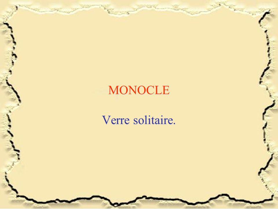 MONOCLE Verre solitaire.