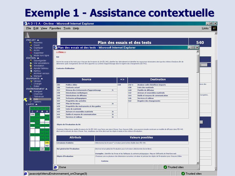 ACFAS 2002 11 Exemple 1 - Assistance contextuelle