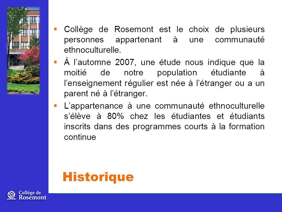Historique Collège de Rosemont est le choix de plusieurs personnes appartenant à une communauté ethnoculturelle.