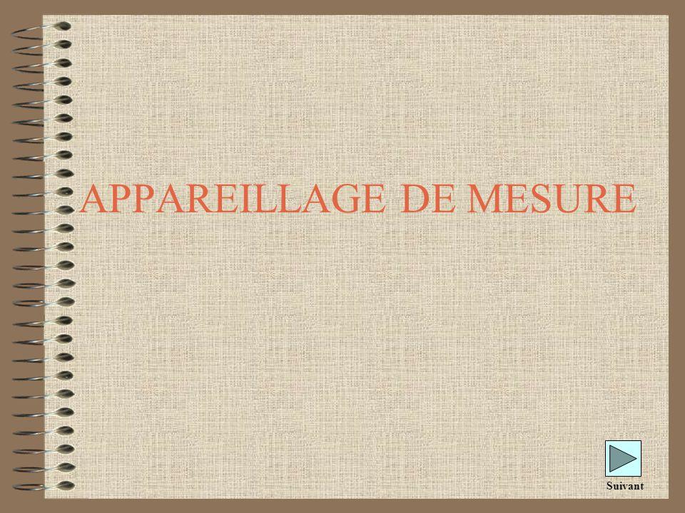 APPAREILLAGE DE MESURE Suivant