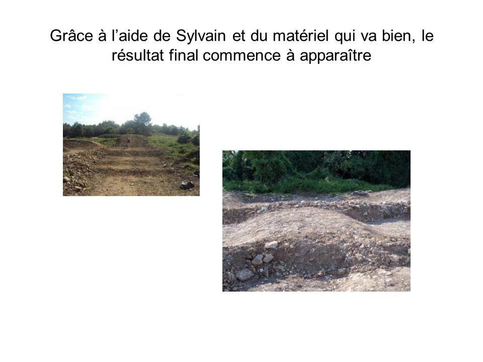 Grâce à laide de Sylvain et du matériel qui va bien, le résultat final commence à apparaître