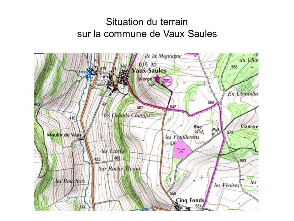 Situation du terrain sur la commune de Vaux Saules