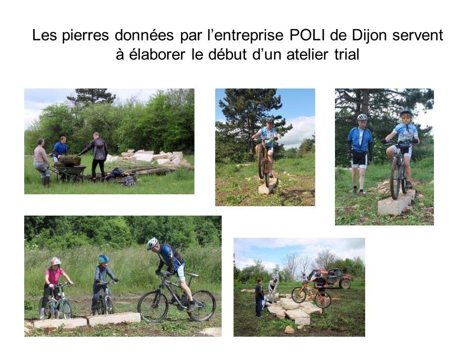 Les pierres données par lentreprise POLI de Dijon servent à élaborer le début dun atelier trial