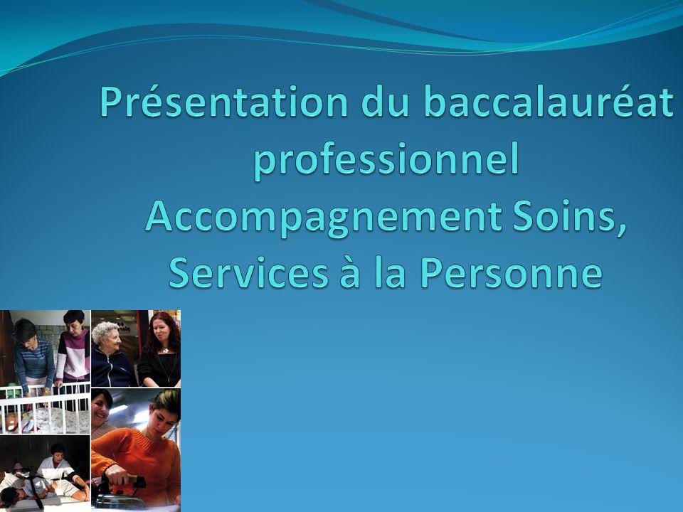 Le bac Pro ASSP Option « Aux domiciles » le titulaire du bac pro exerce ses fonctions auprès de familles, denfants, de personnes âgées, de personnes handicapées, vivant en logement privé, individuel ou collectif.