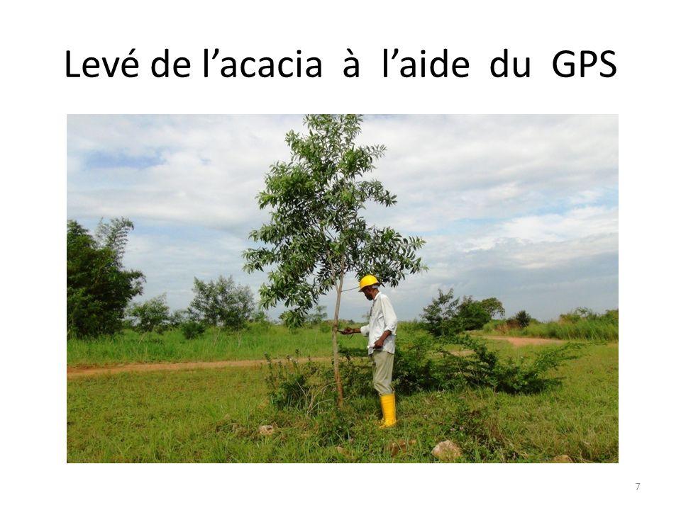 Levé de lacacia à laide du GPS 7