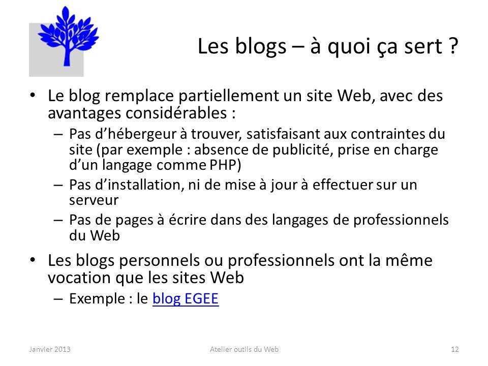Les blogs – à quoi ça sert .