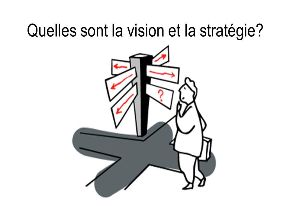 Quelles sont la vision et la stratégie?
