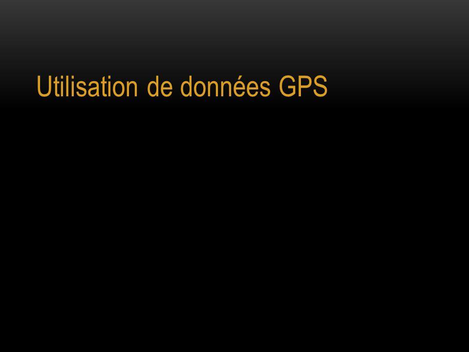 Utilisation de données GPS