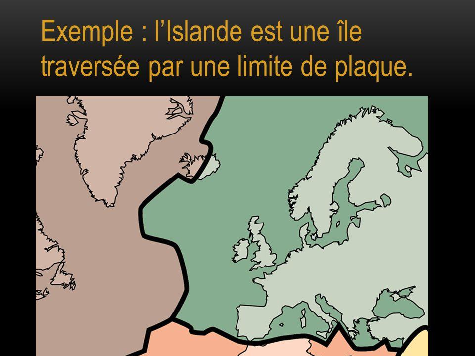 Exemple : lIslande est une île traversée par une limite de plaque.