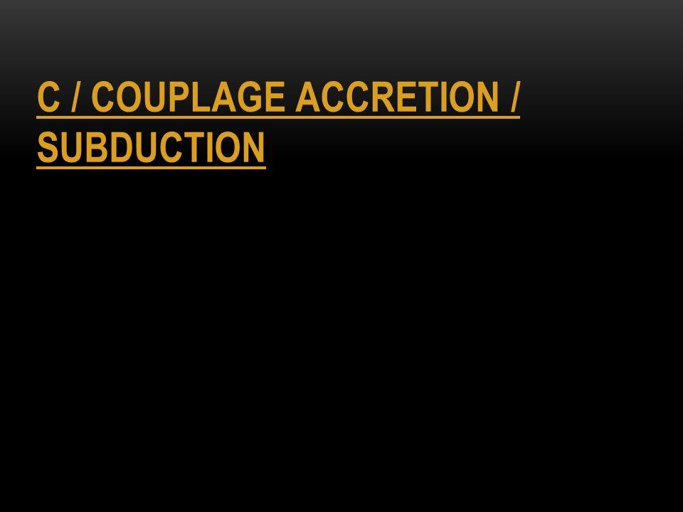 C / COUPLAGE ACCRETION / SUBDUCTION