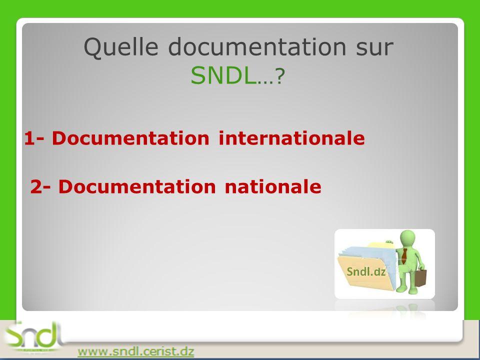Comment sont classées les ressources dans SNDL….