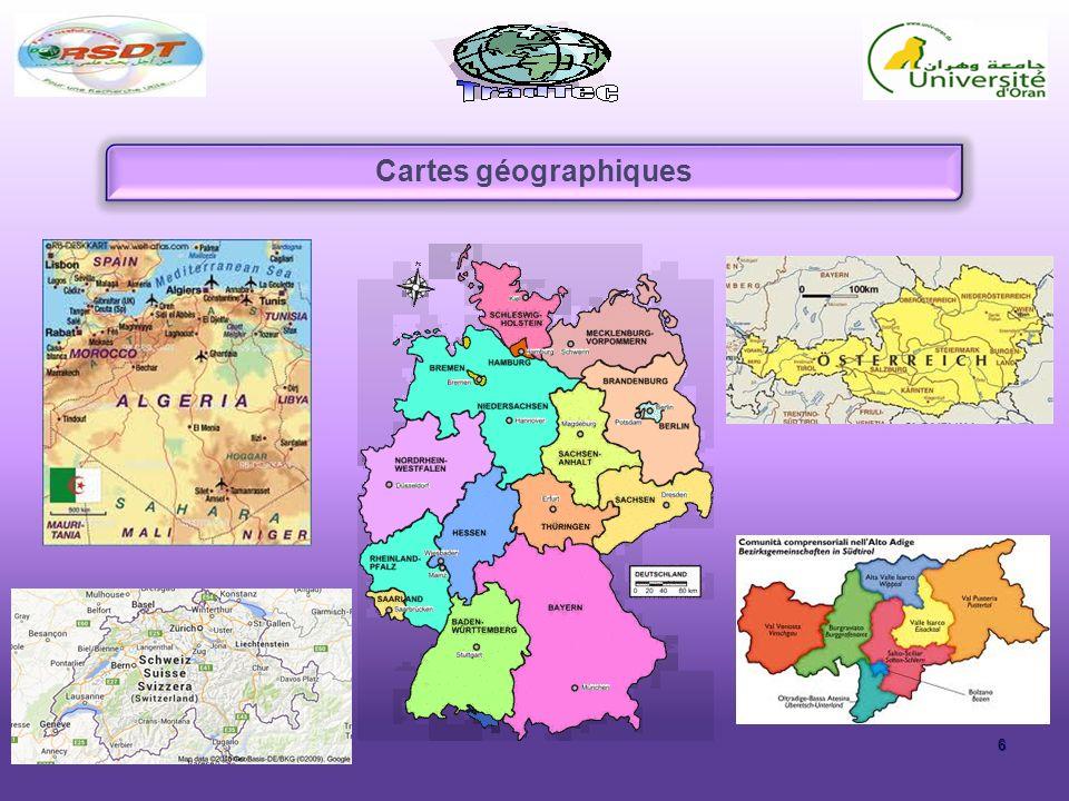 6 Cartes géographiques