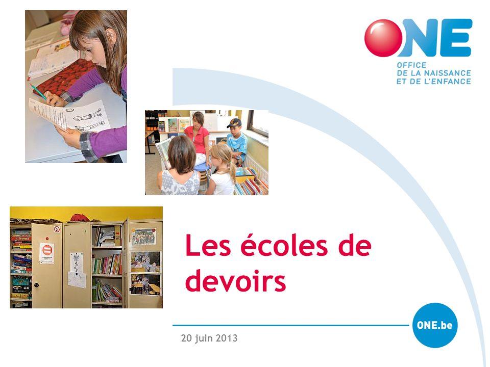 20 juin 2013 Les écoles de devoirs