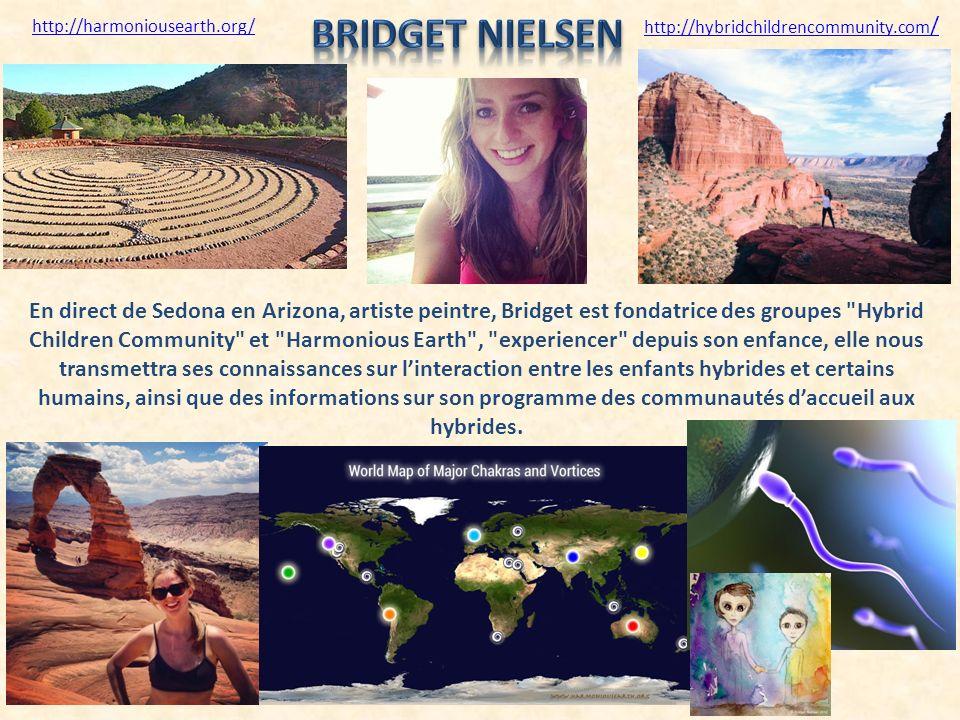 En direct de Sedona en Arizona, artiste peintre, Bridget est fondatrice des groupes