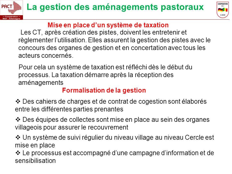 La gestion des aménagements pastoraux Les CT, après création des pistes, doivent les entretenir et règlementer lutilisation. Elles assurent la gestion