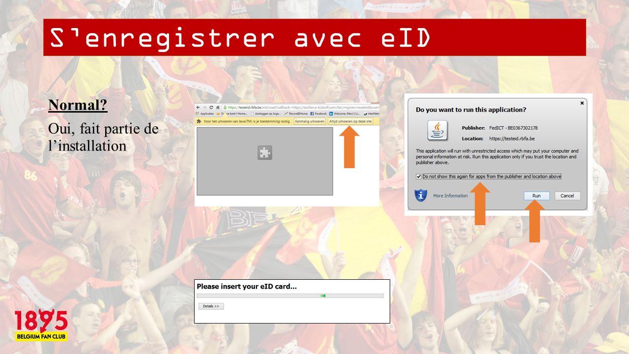 Annexe II: Pas de logiciel pour eID trouvé