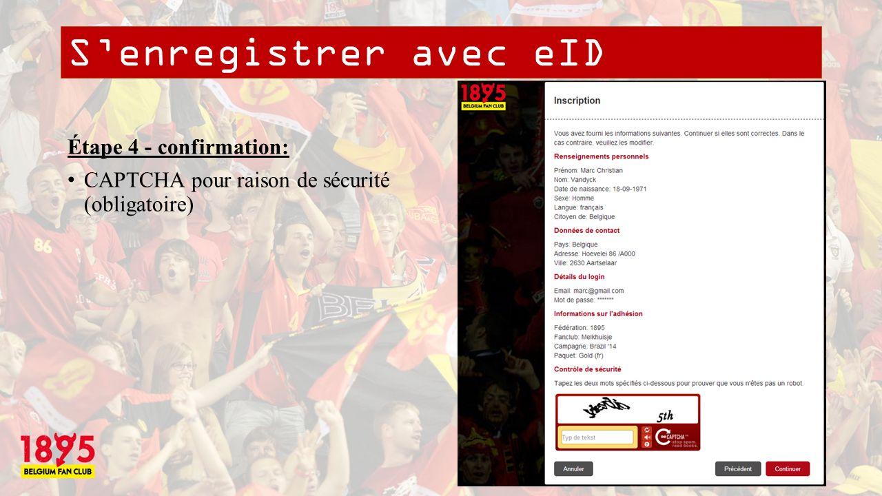 Senregistrer avec eID Étape 5 – confirmation par mail: Lien de confirmation de votre adresse mail