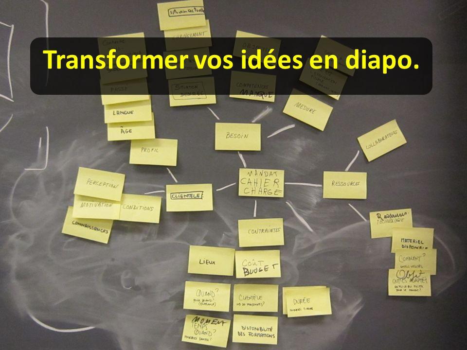 «Diapodak» vous propose un apprentissage pour créer une présentation percutante et aboutie :
