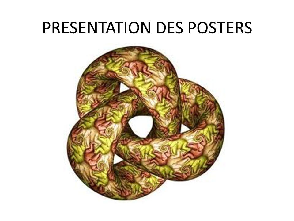 PRESENTATION DES POSTERS