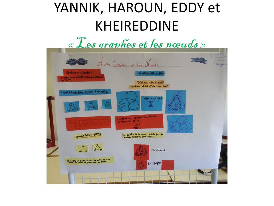 YANNIK, HAROUN, EDDY et KHEIREDDINE « Les graphes et les nœuds »