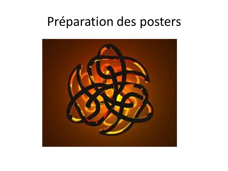 Préparation des posters