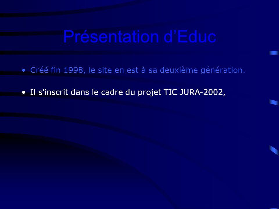 Créé fin 1998, le site en est à sa deuxième génération.