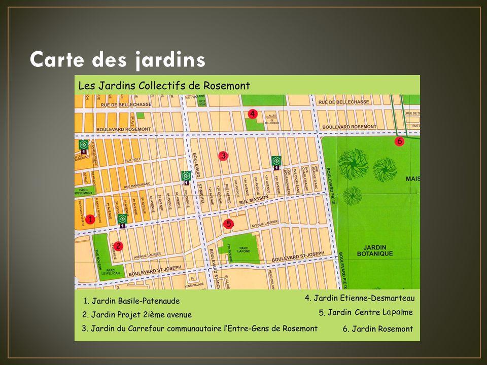 Carte des jardins