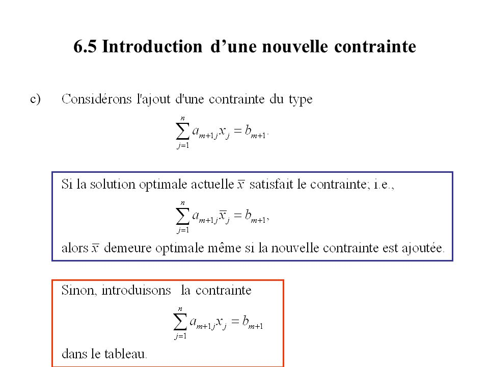 6.5 Introduction dune nouvelle contrainte c)