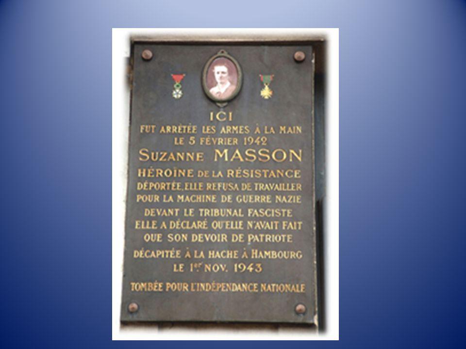 Le 13 juin, elle arrive à la prison de Lubeck où son acte daccusation est prononcé : détention darme, appel à la résistance contre loccupant allemand en France, liaisons clandestines avec le Parti Communiste Français.