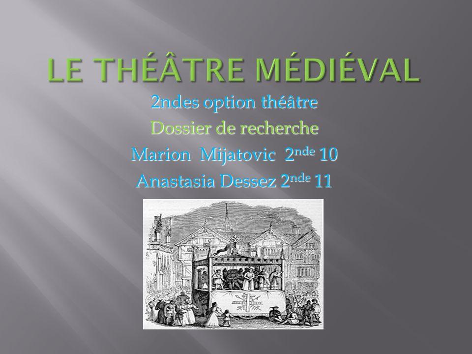 2ndes option théâtre Dossier de recherche Marion Mijatovic 2 nde 10 Anastasia Dessez 2 nde 11