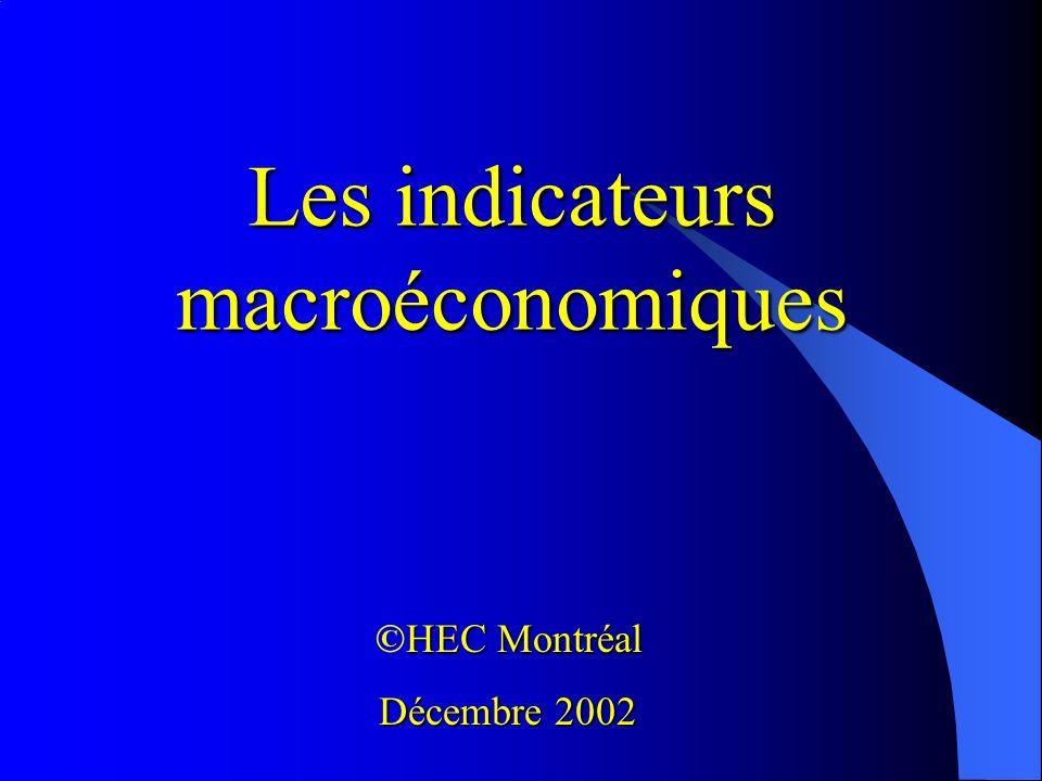 Les indicateurs macroéconomiques HEC Montréal ©HEC Montréal Décembre 2002