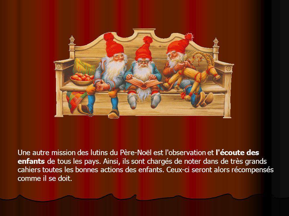 Le Père Noël et ses lutins construisent des jeux et des jouets pour les enfants du monde entier. Dans son atelier, chacun joue son rôle, avec passion